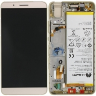 Huawei Honor 7i Display module frontcover+lcd+digitizer + battery gold 02350NBK 02350NBK
