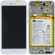 Huawei P8 Lite 2017 Display module frontcover+lcd+digitizer + battery white 02351DNG 02351DNG