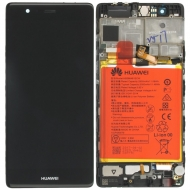 Huawei P9 Display module frontcover+lcd+digitizer + Battery black 02350RPT 02350RPT