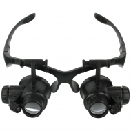 Magnifier eye glasses 25x with LED