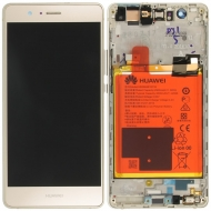 Huawei P9 Lite Display module frontcover+lcd+digitizer + battery gold 02350TMS 02350TMS