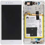 Huawei P9 Lite Display module frontcover+lcd+digitizer + battery white 02350SLF 02350SLF