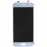 Samsung Galaxy J3 2017 (SM-J330F) Display module LCD + Digitizer silver blue GH96-10992A GH96-10992A