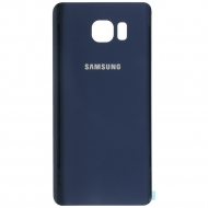 Samsung Galaxy Note 5 (SM-N920) Battery cover black shapphire blue Incl. adhesive sticker. GH82-10507B