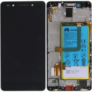 Huawei Honor 7 (PLK-L01) Display module frontcover+lcd+digitizer+battery grey 02350MFN 02350MFN