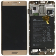 Huawei Mate 9 Pro Display module frontcover+lcd+digitizer+battery gold Display module frontcover+lcd+digitizer+battery. Original complete display LCD + front cover +  touchscreen + battery. Display unit complete with battery.