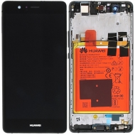 Huawei P9 Lite Display module frontcover+lcd+digitizer+battery black 02350TMU 02350TMU