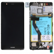 Huawei P9 Plus Display module frontcover+lcd+digitizer + battery grey 02350SUS 02350SUS