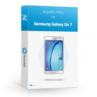 Samsung Galaxy On 7 Toolbox Toolbox with all the specific required tools to open the smartphone.