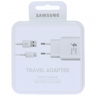 Samsung Fast travel charger EP-TA300CWEGWW incl. microUSB data cable type-C white