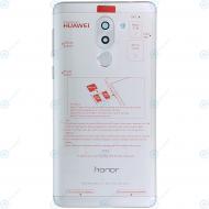 Huawei Honor 6X (BLN-L21) Battery cover incl. Fingerprint sensor silver 02351ADR