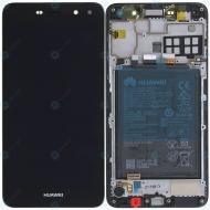 Huawei Y5 2017 (MYA-L22) Display module frontcover+lcd+digitizer+battery dark grey 02351DMD
