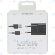 Samsung Fast travel charger 2000mAh incl. USB data cable type-C black (EU Blister) EP-TA20EBECGWW_image-1