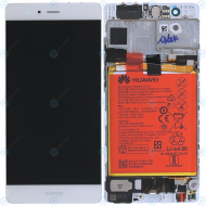 Huawei P9 (EVA-L09, EVA-L19) Display module frontcover+lcd+digitizer+battery silver 02350RRY