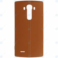 LG G4 (H815, H818) Battery cover brown leather_image-2