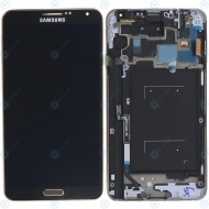 Samsung Galaxy Note 3 (N9005) Display unit complete black/gold GH97-15209F