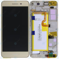 Huawei GR3 (TAG-L21) Display module frontcover+lcd+digitizer+battery gold 02350PLD