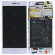Huawei Honor 6C (DIG-L01, DIG-L21HN) Display module frontcover+lcd+digitizer+battery (Honor logo) gold 02351FUU