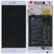 Huawei Y7 (TRT-L21) Display module frontcover+lcd+digitizer+battery white 02351GJV