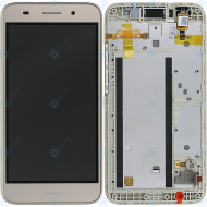 Huawei Y3 2017 (GRO-L22) Display module frontcover+lcd+digitizer gold 97070RBK