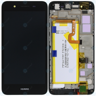 Huawei GR3 (TAG-L21) Display module frontcover+lcd+digitizer+battery grey 02350PLB