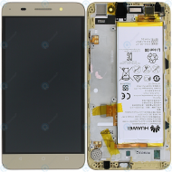 Huawei Honor 4X (CherryPlus-L11) Display module frontcover+lcd+digitizer+battery gold 02350HKW