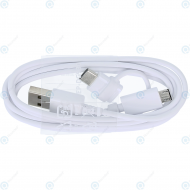Samsung USB combo cable microUSB/microUSB type-C white EP-DG930DWE