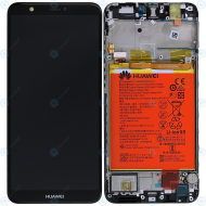 Huawei P smart (FIG-L31) Display module frontcover+lcd+digitizer+battery black 02351SVD 02351SVJ
