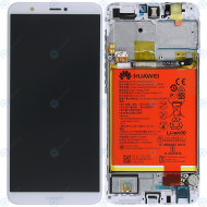 Huawei P smart (FIG-L31) Display module frontcover+lcd+digitizer+battery white 02351SVL 02351SVE