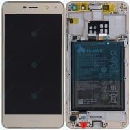 Huawei Y5 2017 (MYA-L22) Display module frontcover+lcd+digitizer+battery gold 02351KUK