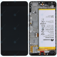 Huawei Honor 6 Plus (PE-L00) Display module frontcover+lcd+digitizer+battery black 02350FXQ