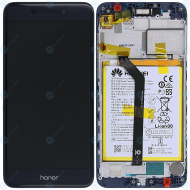 Huawei Honor 6C Pro (JMM-L22) Display module frontcover+lcd+digitizer+battery blue 02351NRT