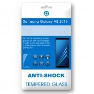 Samsung Galaxy A8 Plus 2018 (SM-A730F) Tempered glass black