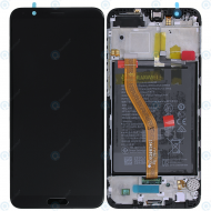Huawei Honor View 10 (BKL-L09) Display module frontcover+lcd+digitizer+battery black 02351SXC