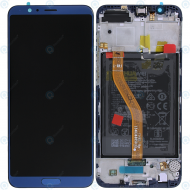Huawei Honor View 10 (BKL-L09) Display module frontcover+lcd+digitizer+battery blue 02351SXB