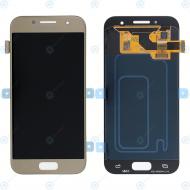Samsung Galaxy A3 2017 (SM-A320F) Display module LCD + Digitizer gold GH97-19732B_image-2