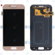 Samsung Galaxy A3 2017 (SM-A320F) Display module LCD + Digitizer pink GH97-19732D_image-2
