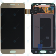 Samsung Galaxy S6 (SM-G920F) Display module LCD + Digitizer gold GH97-17260C_image-3