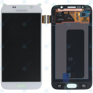 Samsung Galaxy S6 (SM-G920F) Display module LCD + Digitizer white GH97-17260B_image-2