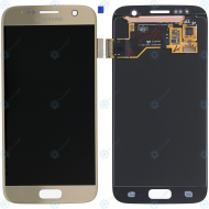 Samsung Galaxy S7 (SM-G930F) Display module LCD + Digitizer gold GH97-18523C_image-2