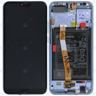 Huawei Honor 10 (COL-L29) Display module frontcover+lcd+digitizer+battery glacier grey 02351XAE