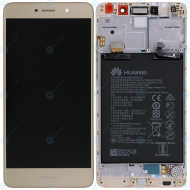 Huawei Y7 (TRT-L21) Display module frontcover+lcd+digitizer+battery gold 02351GEQ_image-4