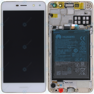 Huawei Y6 2017 (MYA-L11) Display module frontcover+lcd+digitizer+battery white 02351DME