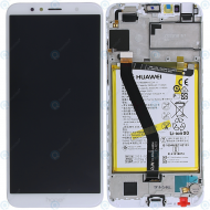 Huawei Honor 7A Display module frontcover+lcd+digitizer+battery white 02351WER
