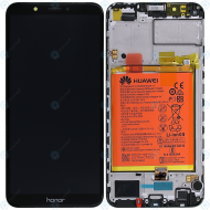 Huawei Honor 7C Display module frontcover+lcd+digitizer+battery black 02351USW