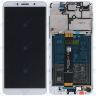 Huawei Honor 7s Display module frontcover+lcd+digitizer+battery white 02351XHT