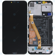 Huawei Honor Play Display module frontcover+lcd+digitizer+battery midnight black 02351YXV