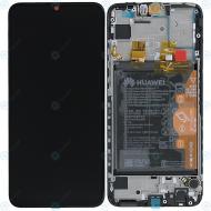Huawei P smart 2019 (POT-L21 POT-LX1) Display module frontcover+lcd+digitizer+battery midnight black 02352JEY