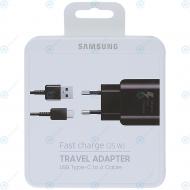 Samsung Fast travel charger EP-TA300CBE 2100mAh incl. USB data cable type-C black (EU Blister) EP-TA300CBEGWW