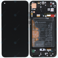 Huawei Honor View 20 (PCT-L29B) Display module frontcover+lcd+digitizer+battery midnight black 02352JKP